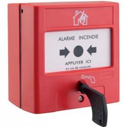 Déclencheur manuel à membrane pour équipement d'alarme incendie