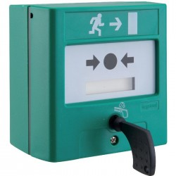 Déclencheur manuel à membrane avec indicateur mécanique pour sortie de secours