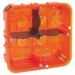 Boîte d'encastrement Batibox multimatériaux 2 x 2 postes