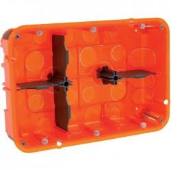 Boîte d'encastrement Batibox multimatériaux 2 x 3 postes