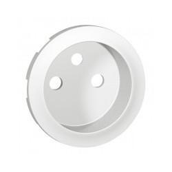 Enjoliveur prise 2P+T à puits - blanc