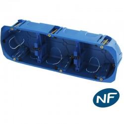 Boite d'encastrement Placo triple, Ø67 x 40 mm, entraxe 71mm BLUE BOX - BLM