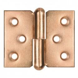 Paumelle de meuble à nœud roulé acier laitonné